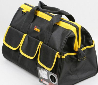 Heavy Duty 16 Inch Black Polyester Tool Bag