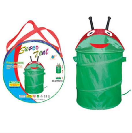 Foldable Green Cartoon Frog Pop up Trash Bin