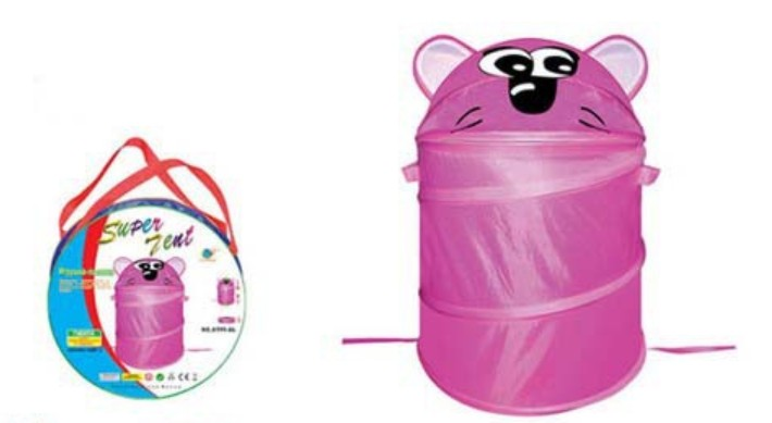 Pink Foldable Cartoon Bee Pop up Laundry Hamper Bin
