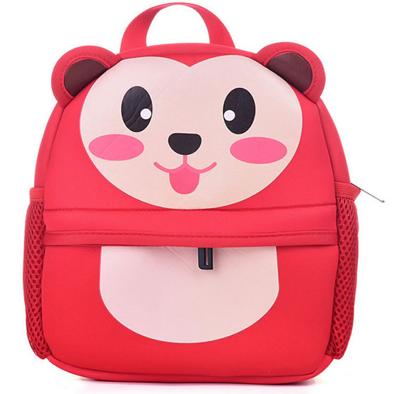 Fashionable Red Monkey Style Polyester School Bag