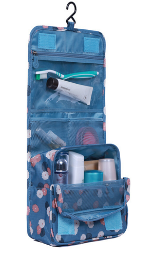Hanging Printed Travel Toiletry Organizer Cosmetic Pouch Bag