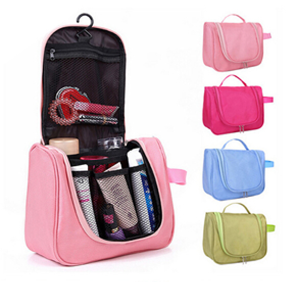 Hot Selling Hanging Polyester Cosmetic Travel Bag, Cosmetic Travel Kit