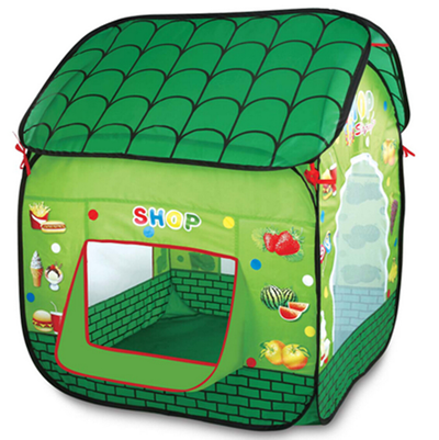 Instant Indoor Folding Green Tile Designed Playhouse, Tile Designed Toy Play Tent For Teenagers Babies, Children or Kid