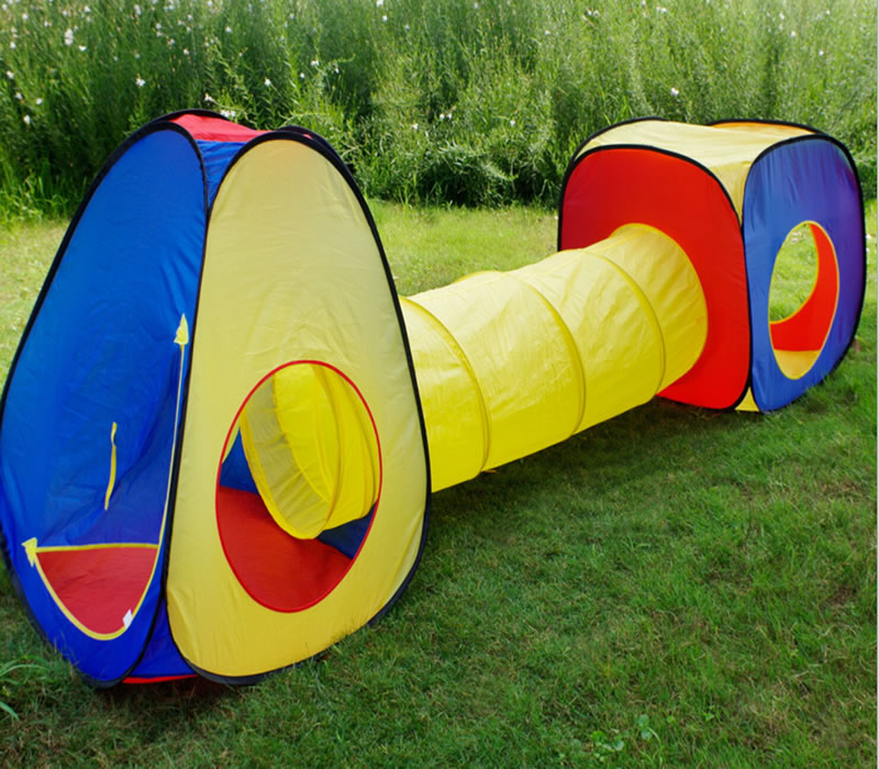 Polyester Pop Up Play Tunnel Tent for Kids