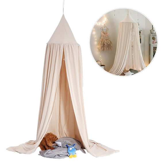 Cotton Canvas Dome Bed Canopy Kids Play Tent Mosquito Net for Baby Kids Indoor Outdoor