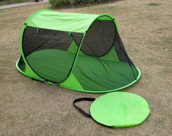 In/Outdoor 1-Person Free-Standing Green Pop Up Mosquito Net Tent