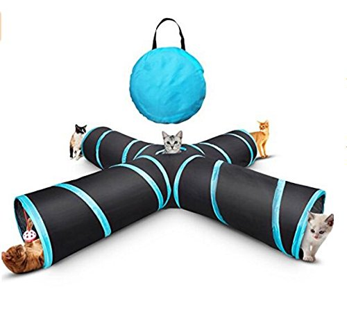 4 Way Portable Collapsible Pet Cat Tunnel Tube