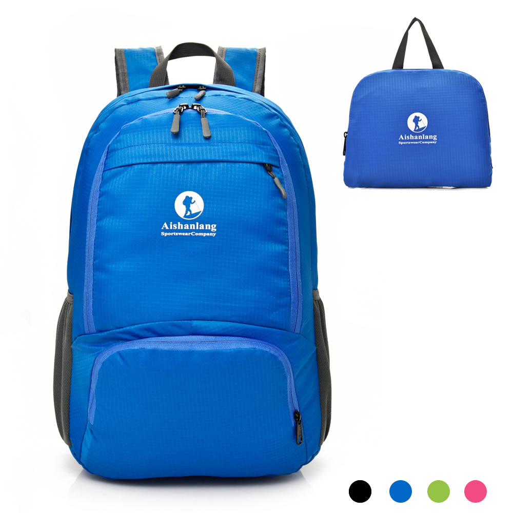 Lightweight Foldable Travel Daypack Backpack - Water Resistant Knapsack with Pouch for Women Men